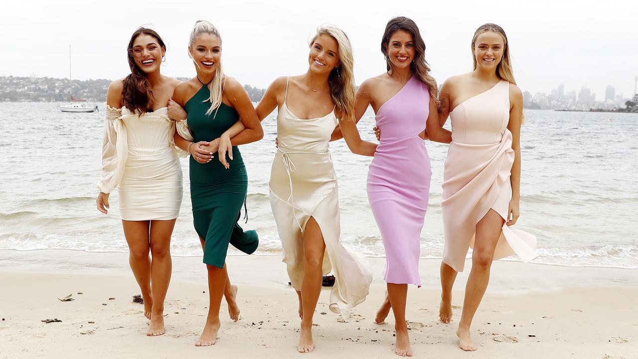 Miss Universe Australia NSW finalists L-R: Maddison Coluccio, Taylor Davey, Anneliese Zanchetta, Emily Tokic and Mikayla Scnabel. Picture: Sam Ruttyn