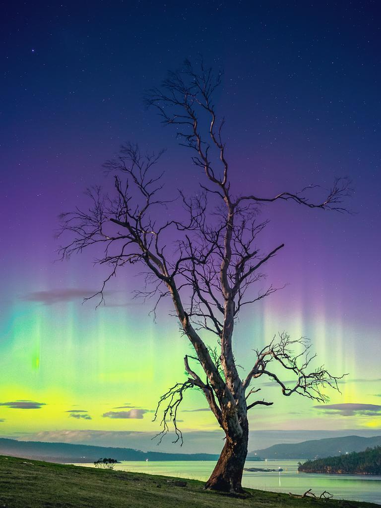 Aurora Australis at Tinderbox, Tasmania. Picture: TIM GRIMSEY