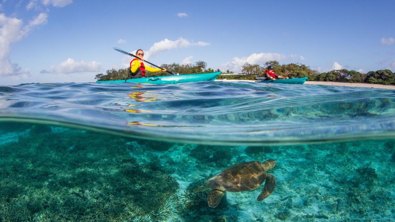 HAPPY DAYS: Lady Elliot Island Eco Resort take out silver at the Qantas Australia Tourism Awards.