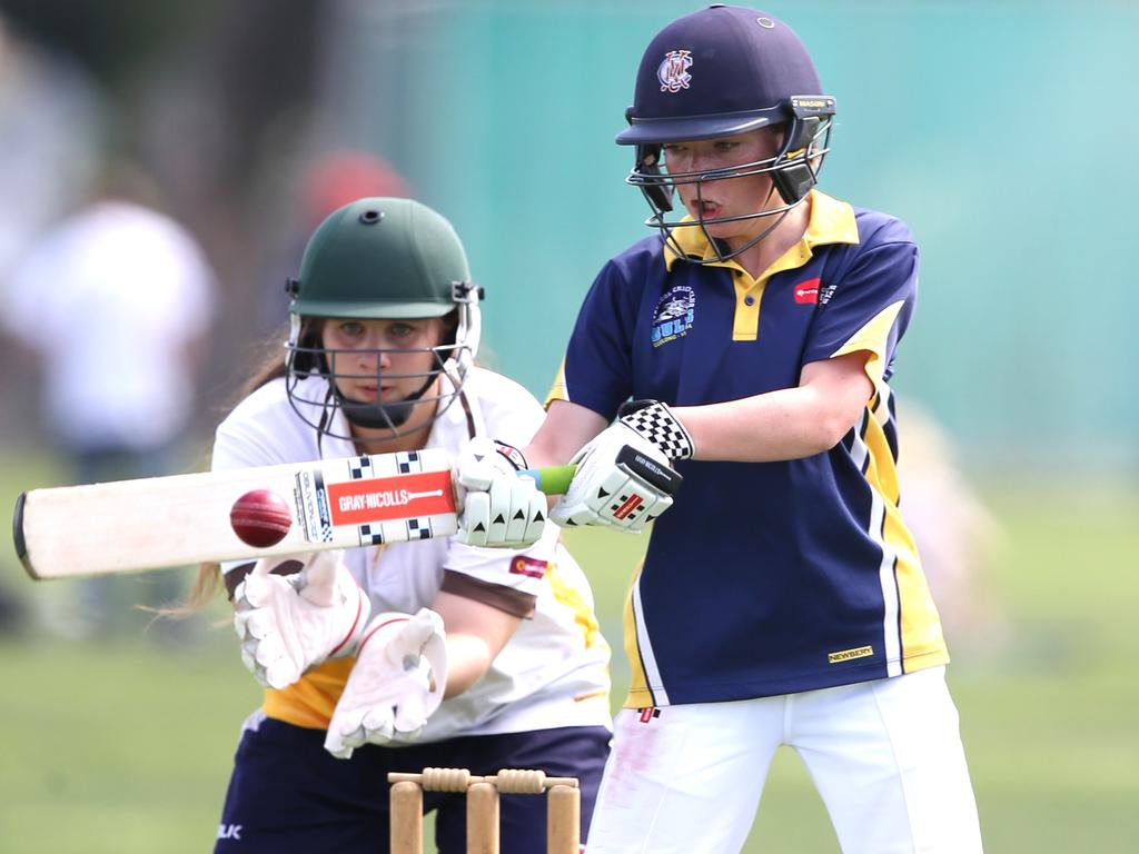 Playing numbers in girls cricket are up. Picture: Mike Dugdale