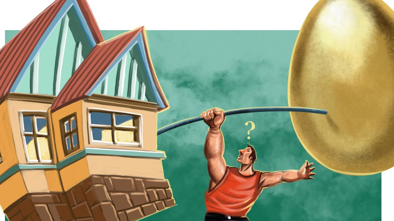 Your house and super account are the two largest personal investments. Illustration: John Tiedemann