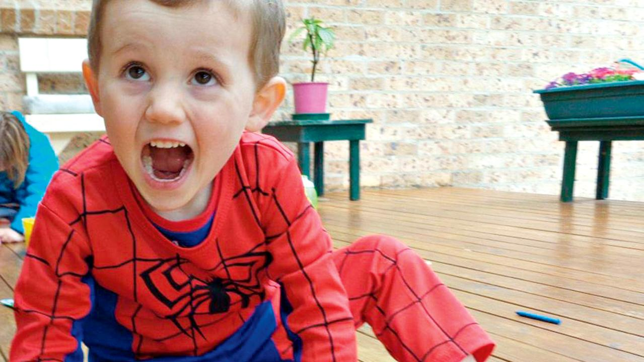 William Tyrrell in his now infamous Spider-Man suit.