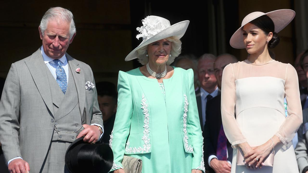 Camilla (centre) was said to be unhappy with Meghan's latest move. Picture: Chris Jackson/Chris Jackson/Getty