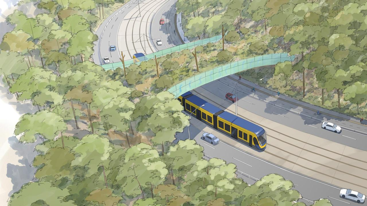 The trams are proposed to go south. Picture: Supplied