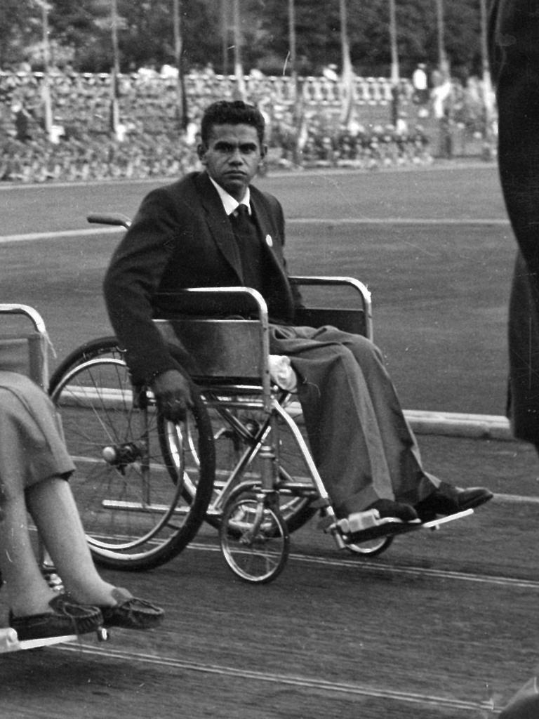 Kevin Coombs during the Opening Ceremony for the 1960 Paralympic Games.