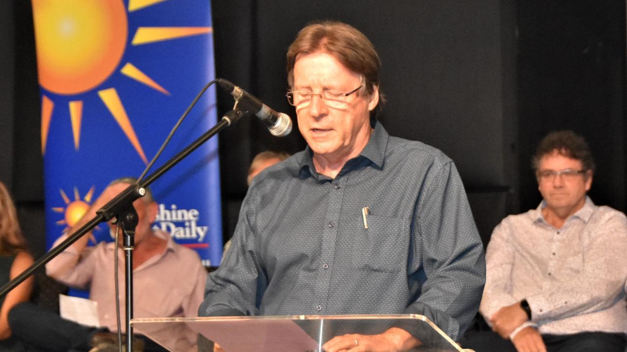Noosa Council candidate Tony Wellington. Photo: Caitlin Zerafa