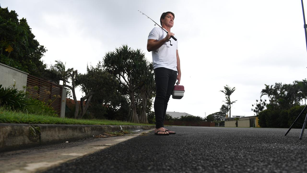 Lennox Head resident Simon Jones ready for fishing minus the boat that was stolen from outside the front of his house.