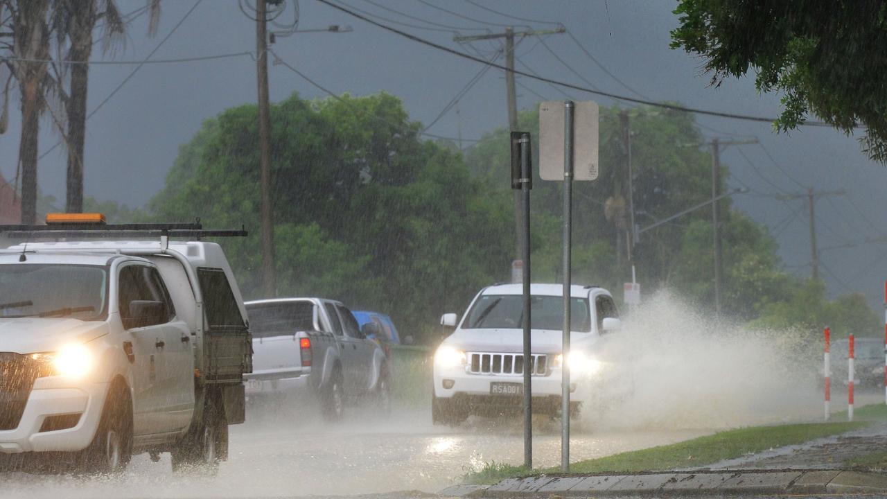 Rain hit the Ipswich region on Monday.