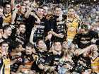 Winners Wests Tigers team photo after the Australian 2005 National Rugby League (NRL) Grand Final match North Queensland Cowboys v Wests Tigers in Sydney, Sunday, Oct. 2, 2005. Wests Tigers won 30 - 16. (AAP Image/Jenny Evans)