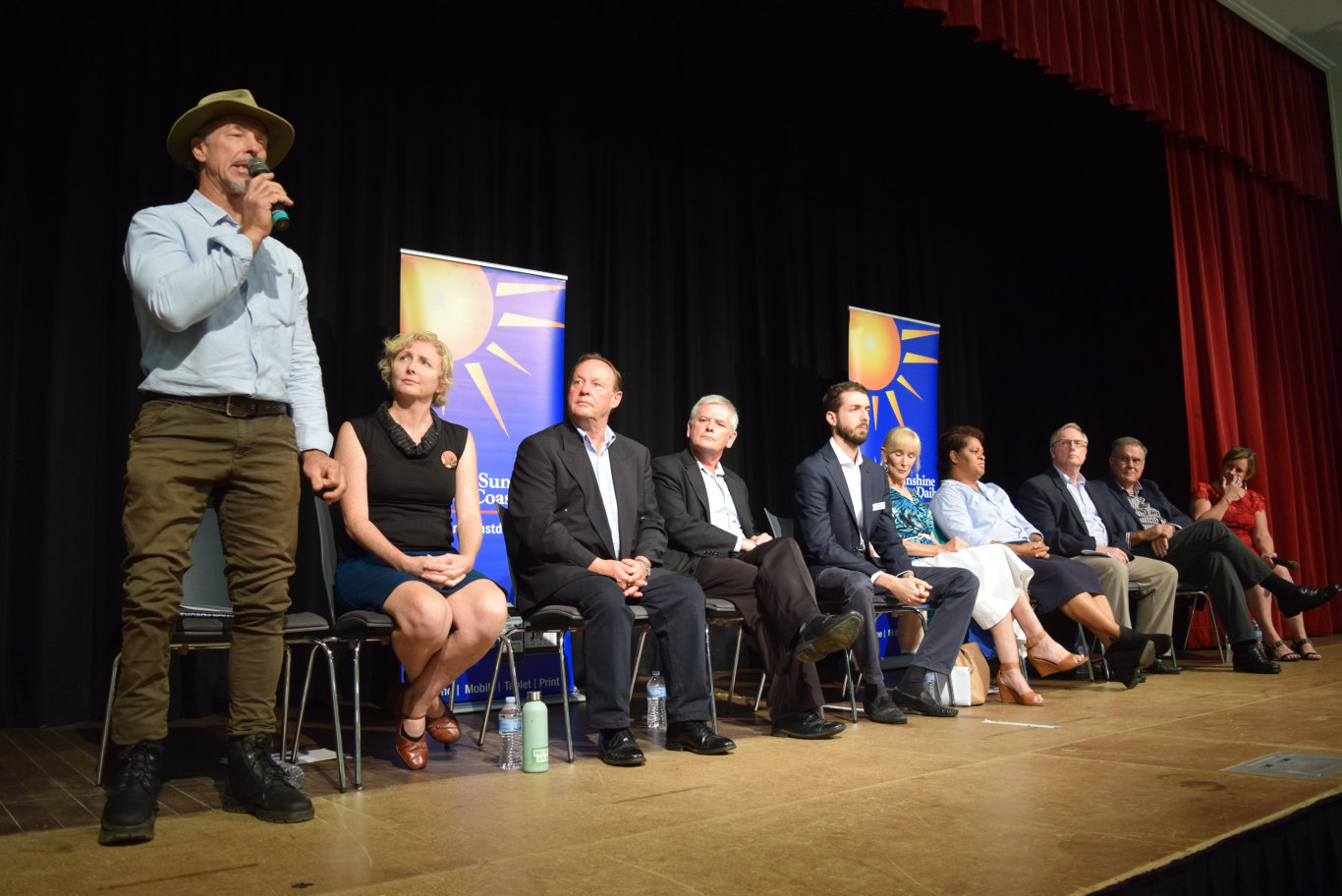 Division 5 candidate Greg Cutlack speaks at the Sunshine Coast Daily's election forum in Maleny.