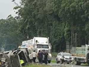 Critical care paramedics at scene of serious crash