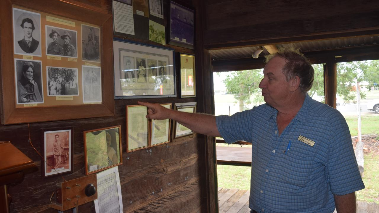 TIME TRAVEL: Mr Neale walks through the history of the Nott family who occupied Greycliffe Homestead.