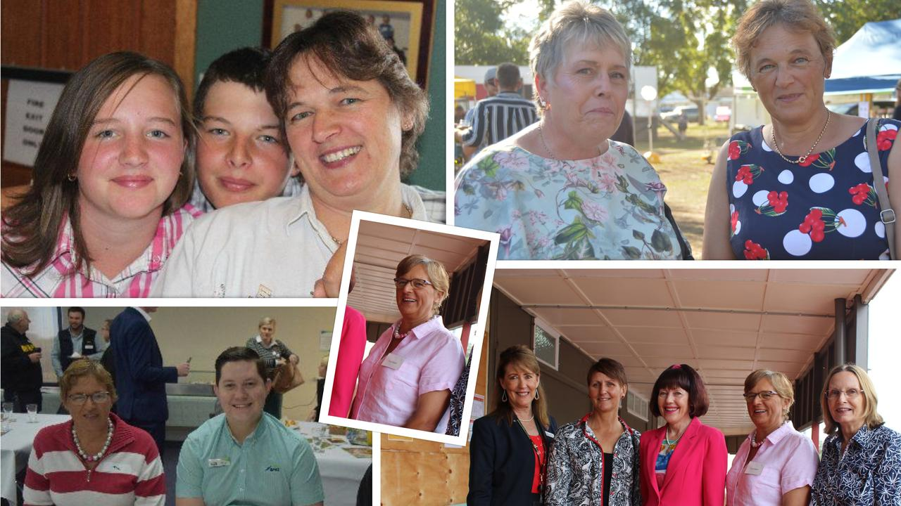 The many faces of Durong resident Toni Ralph who is running for mayor in the South Burnett Regional Council election later this month. Photo: Contributed