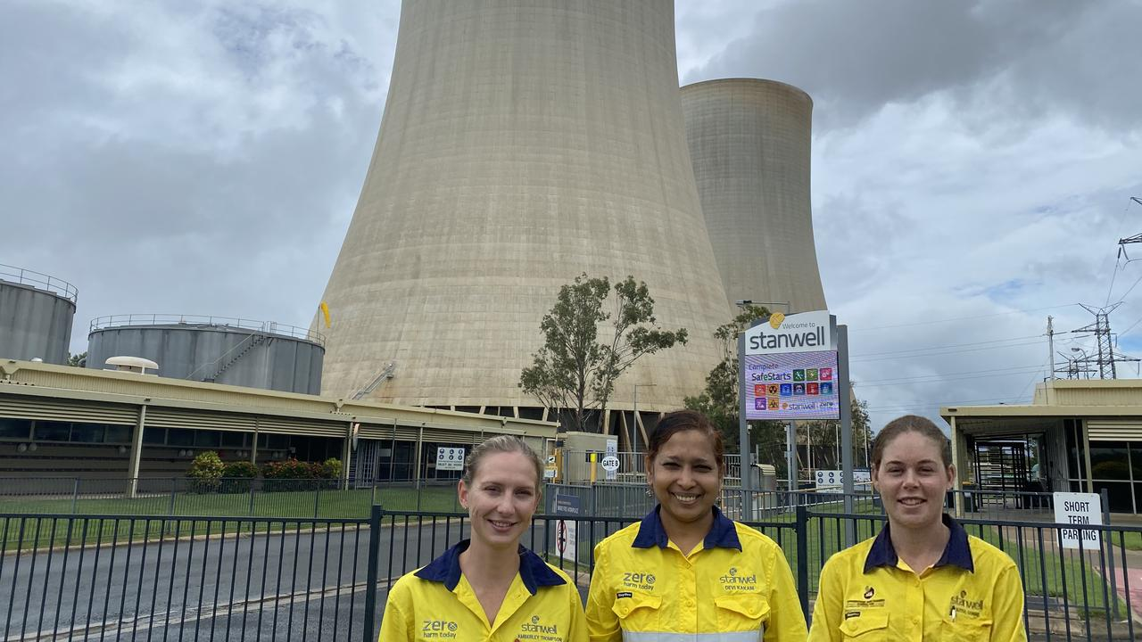 WORKING HARD: Earlier this year the women of Stanwell Power Station celebrated the company for its progressive policies.