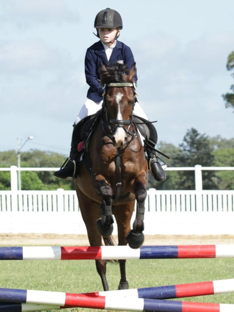 Interschool Showjumping Competition - Victory College's Emily Davis.