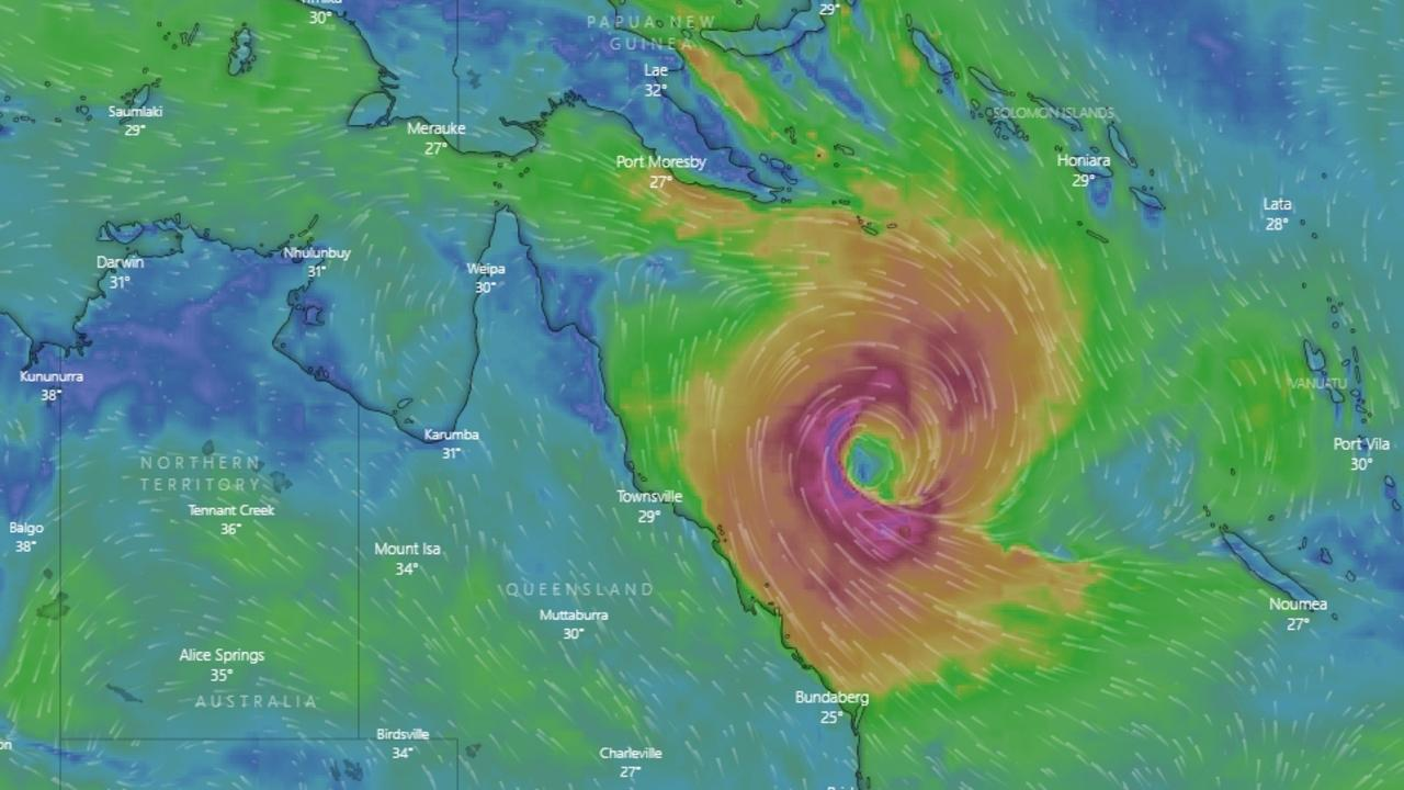 CYCLONE WATCH: A cyclone is predicted to form in the northern Coral Sea over the weekend. It is not expected to make landfall with the coast. Picture: windy.com.au