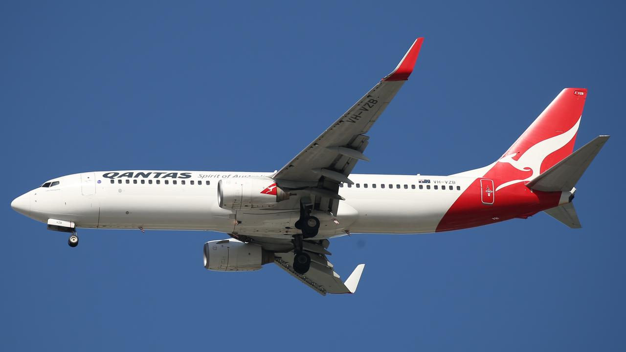 Qantas has announced a reduction in international flights equivalent to grounding 38 aircraft. Picture: Brendan Radke