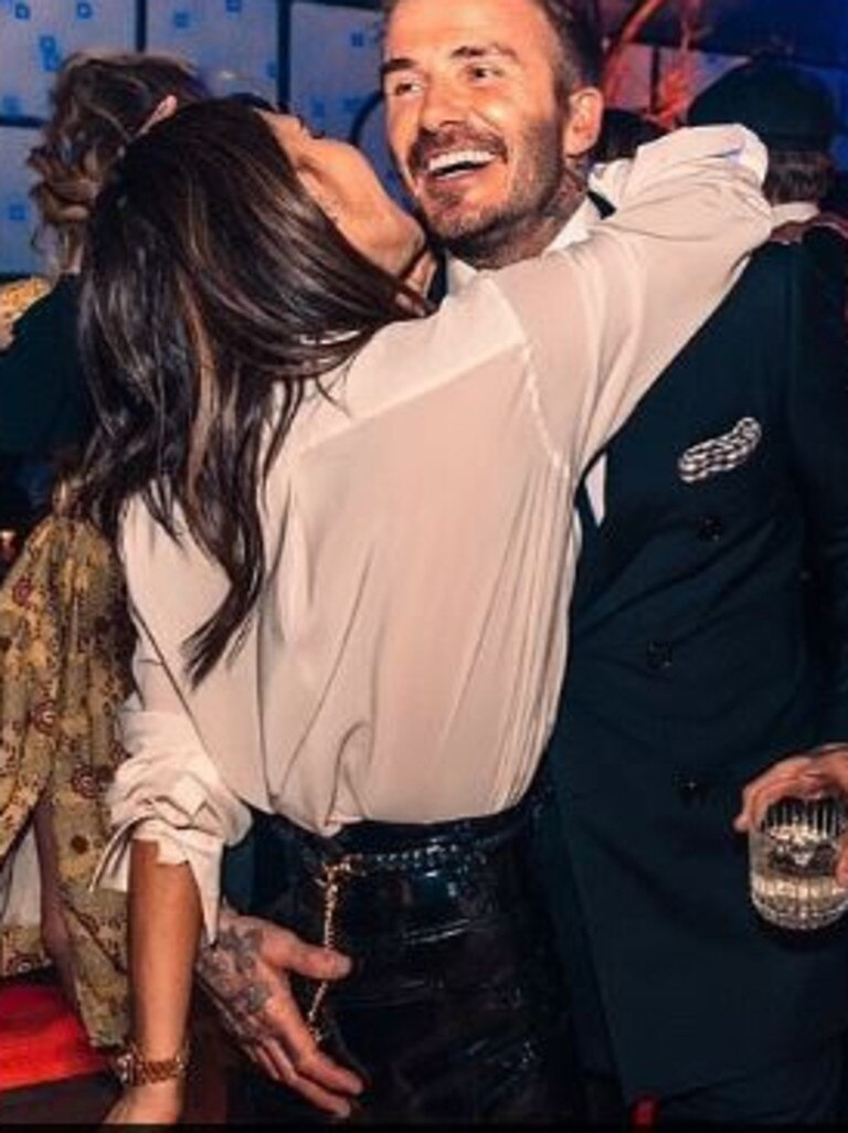 David and Victoria Beckham at son Brooklyn's 21st. Picture: Instagram
