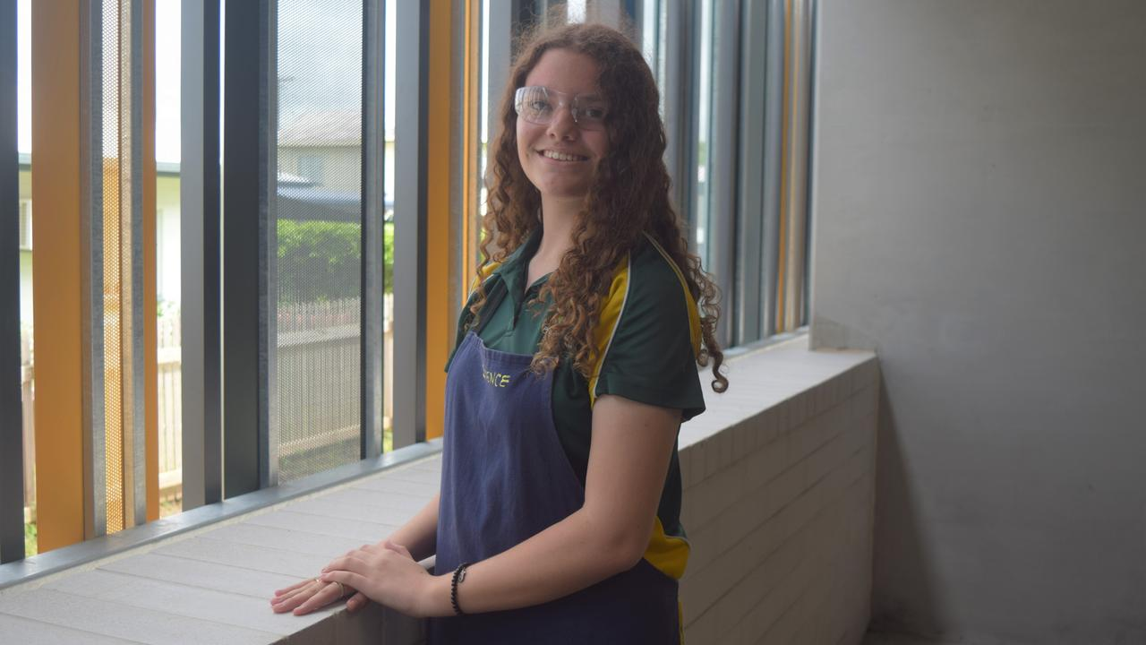 EYES ON THE FUTURE: Sharvani McCoombes hopes the new building will encourage more girls to take an interest in STEM.