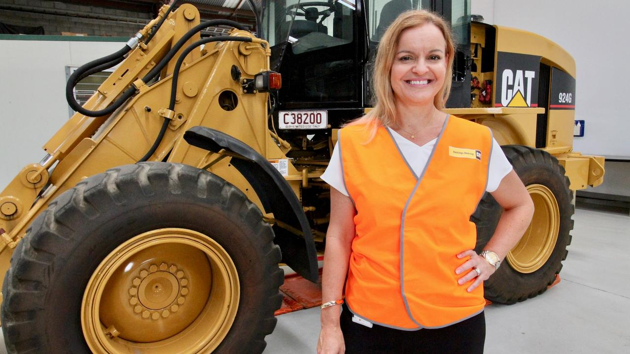 Jo Best, general manager of enterprise excellence and employee experience at Hastings Deering, was presented with her award as Exceptional Woman in Queensland Resources. Pictures: Contributed