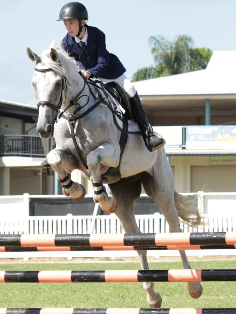 Interschool Showjumping Competition - Victory College's Callum Lehman.