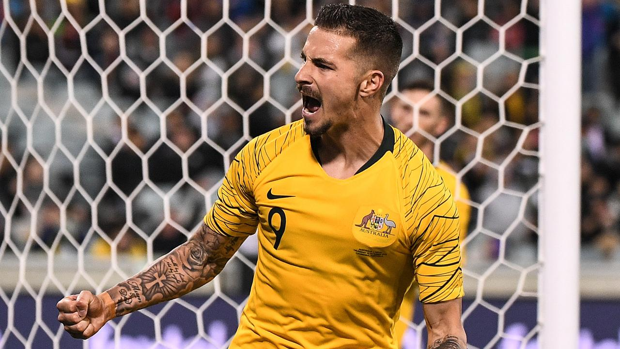 Jamie Maclaren and the Socceroos will have to wait to resume their Cup qualifying quest.