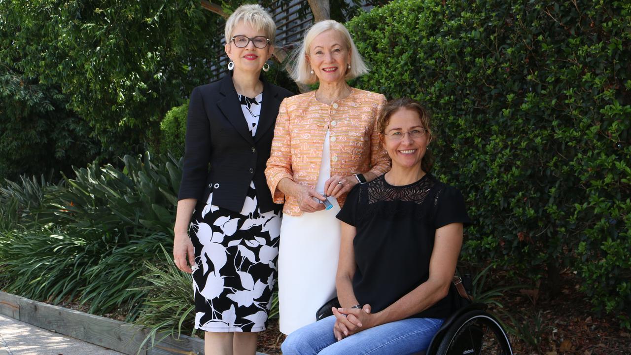 Bionics QLD CEO Dr Robyn Stokes, Bionics QLD Founder Dr Dimity Dornan AO & Mandy Frier.