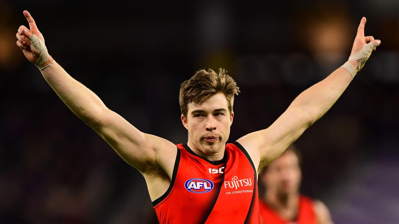 Zach Merrett has developed a reputation as one of the AFL's best outside midfielders at Essendon.