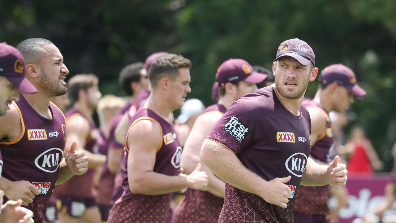 Matt Lodge's ACL tear is a huge blow for the Broncos with the enforcer set to be out for months. Picture: Annette Dew