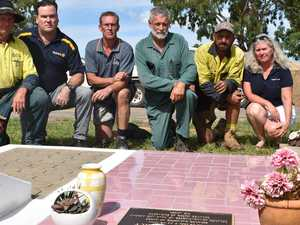 Town unites to restore murdered girl's grave