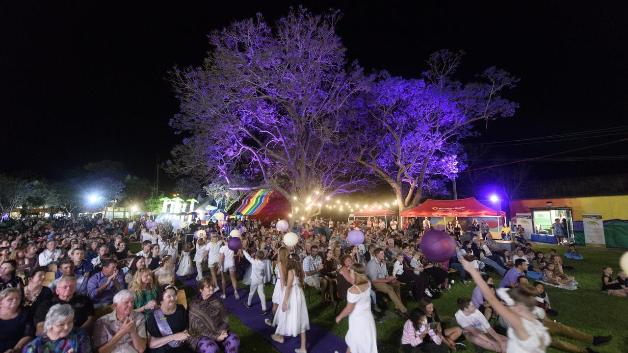 Market Square during Jacaranda Festival. Australian Traveller magazine is encouraging its readers to visit bushfire ravaged towns including Nymboida and neighbouring Grafton, highlighting the city's famous Jacaranda season in October/November in its article.