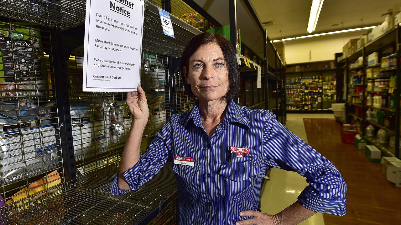 Cornett's IGA Garbutt has been caught up in the toilet paper pandemic with staff receiving abusive calls over limited availability. Service manager Elaine Coghill is calling on customers to remain calm and patient. PICTURE: MATT TAYLOR.