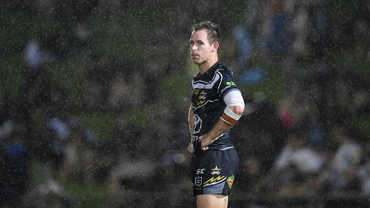 Friday night looks likely to be a repeat of Round 1 last year, where Michael Morgan is pictured in the rain in the North Queensland Cowboys V St George Illawarra Dragons game at 1300SMILES Stadium on March 16, 2019. (Photo by Ian Hitchcock/Getty Images)