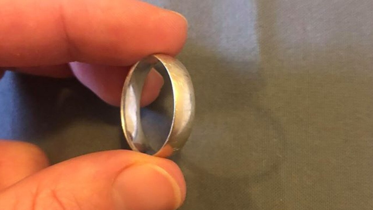 The wedding ring found at Litchfield National Park.