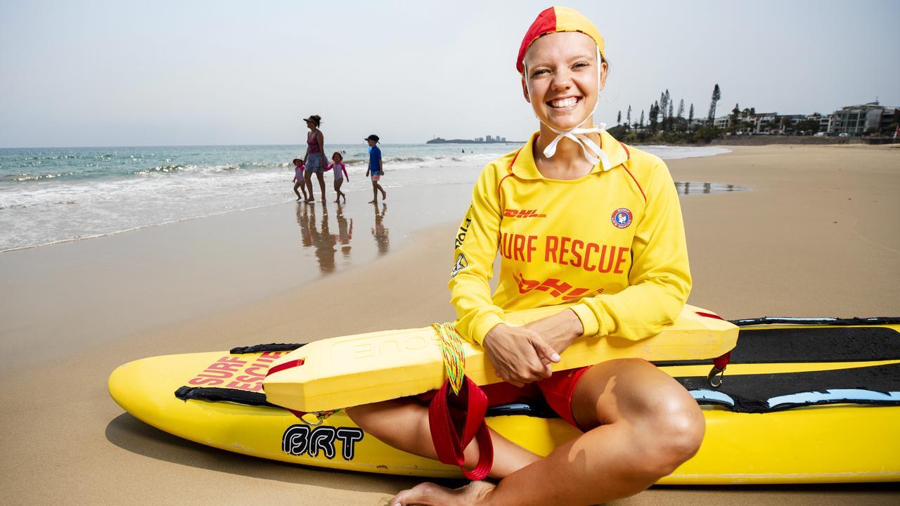 Alexandra Headland surf lifesaver Sonita Leng-Cole. Photo Lachie Millard