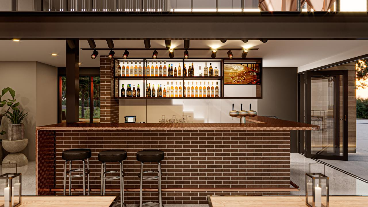 DEVASTATED: A render of the tasting bar for 20 20 Distillery in Cooroy.