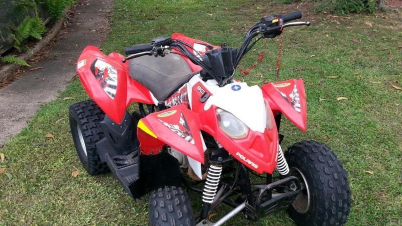 A Polaris 90cc quad bike similar to the one stolen at Duffys Forest on Thursday