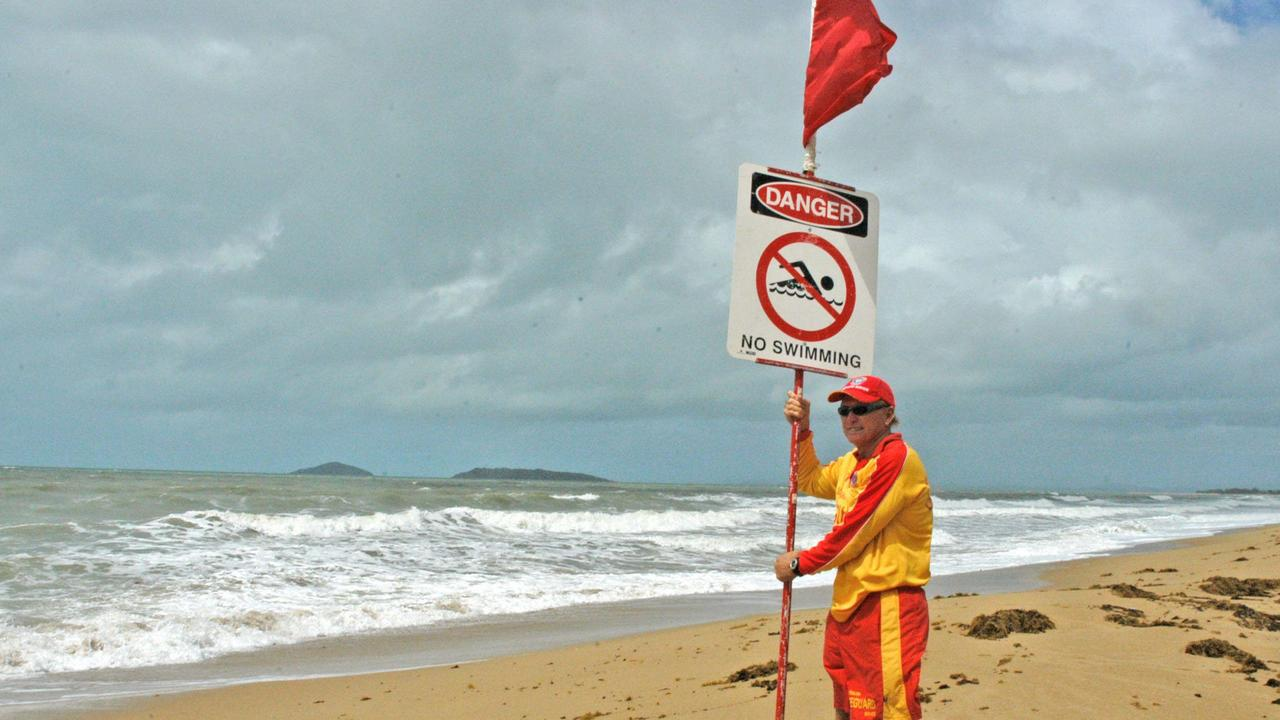 Debris and heavy tidal surges have caused unsafe conditions for swimmers.
