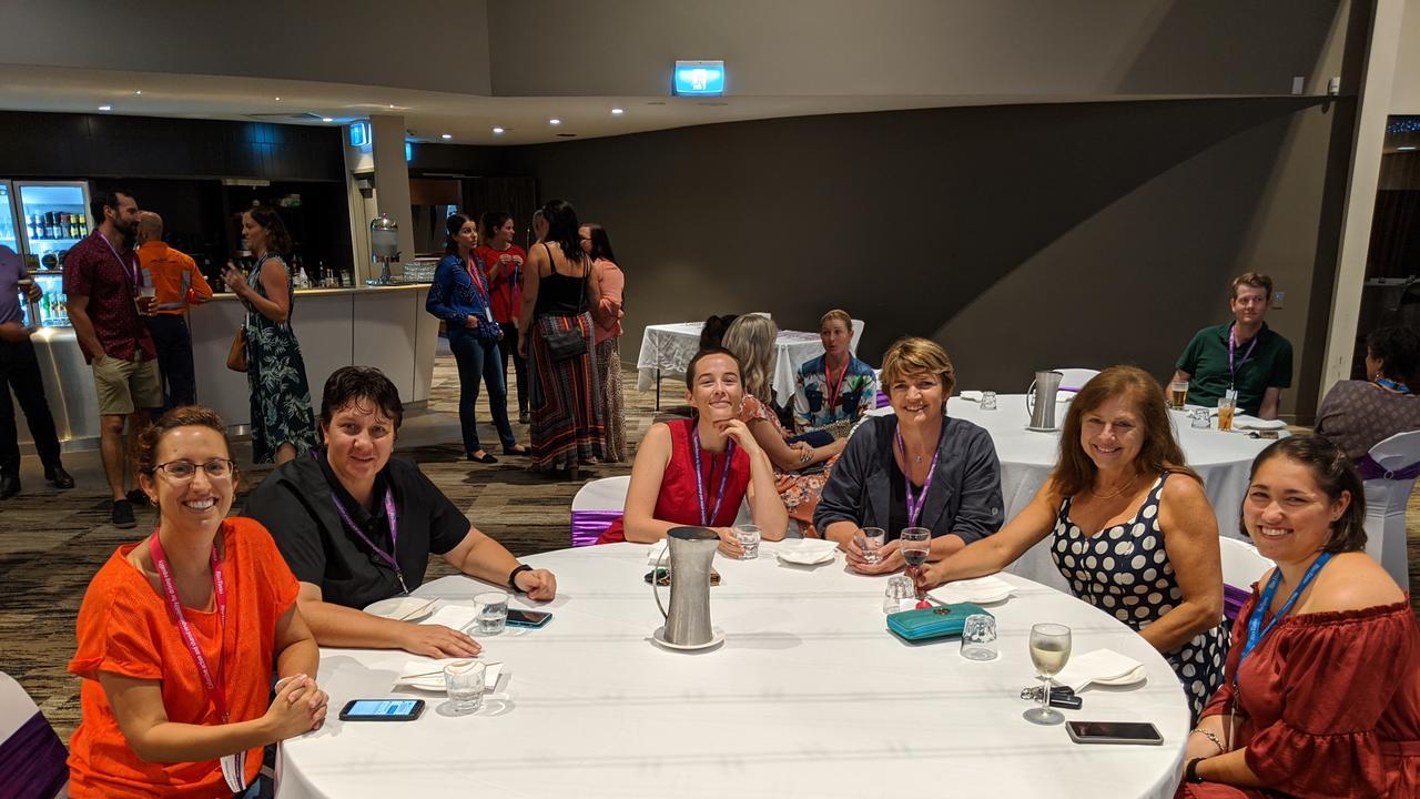 Fiona Shannon, Sharna Walker, Maddy Courtney, Alicia Newport, Sandra Brien and Audrey Fehlhaber at Rio Tinto Yarwun's International Women's Day event at Yaralla.