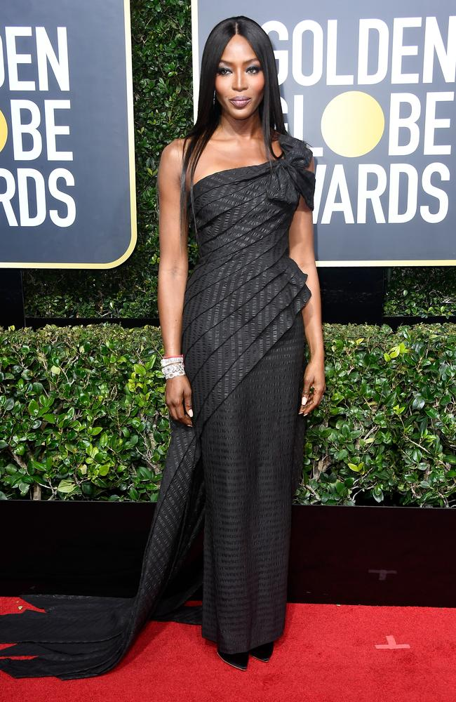 Naomi Campbell at The 75th Annual Golden Globe Awards at The Beverly Hilton Hotel in 2018. Picture: Frazer Harrison/Getty Images