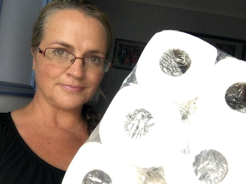 Jeni Bonell took to Facebook to complain after being shamed over her toilet paper haul. Picture: Facebook