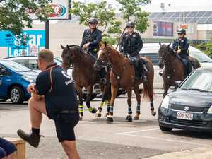 VIDEO: Why Brisbane sent mounted police to Gatton today