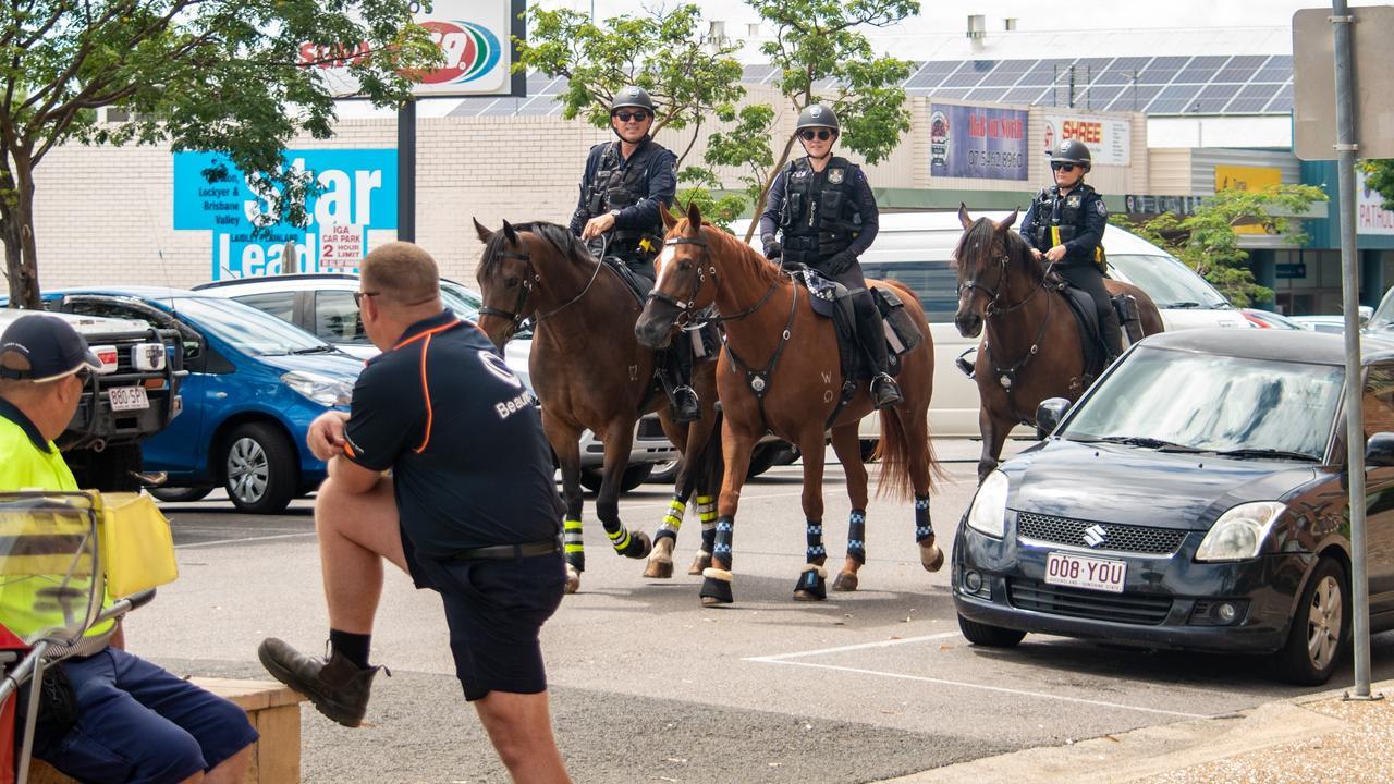 Queensland Mounted Police in Gatton. PHOTO: ALI KUCHEL