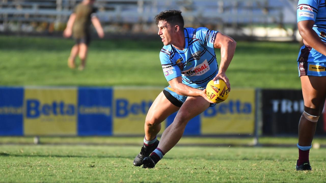 Riley Shadlow is one of the more experienced players in the Capras under-20s squad this year..