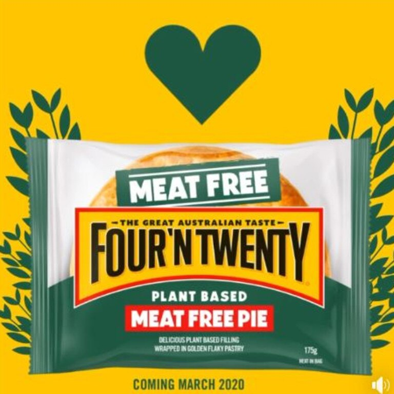 Four'N Twenty's meat-free pie was launched in Australia last month.
