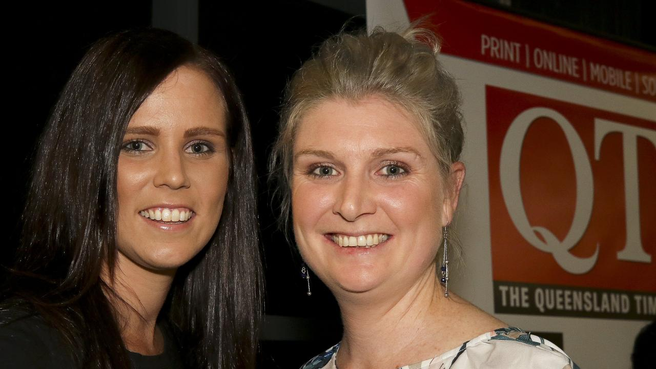 TEAM APPROACH: Norths A-Grade coach Leonie Young (right) with good friend and coaching partner Morgan Leeder. Picture: Franca Tigani