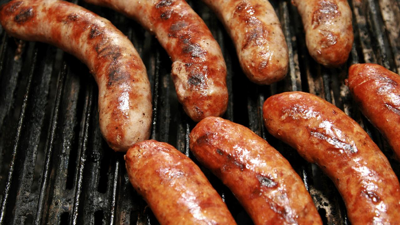 A violent Australia Day 'scuffle' was allegedly sparked by borrowed sausages.