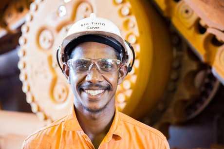 Apprentice diesel mechanic Dale Dhamarrandji at Rio Tinto's Gove Operations.