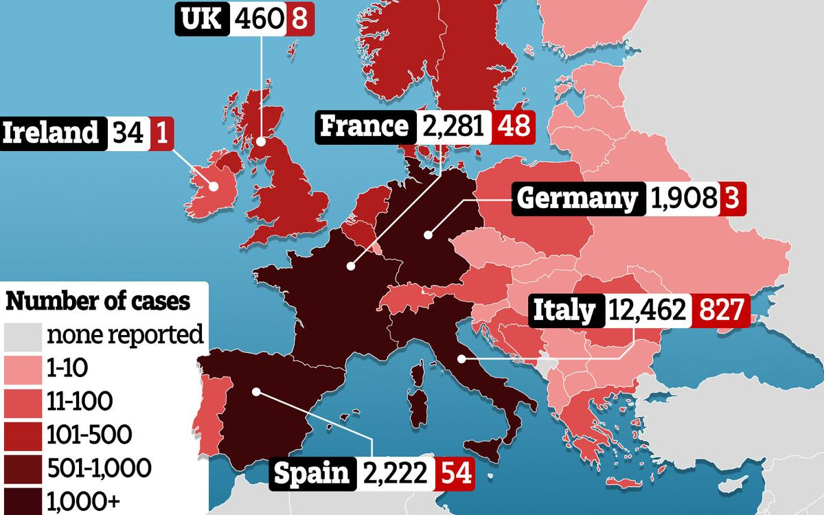 This map spells disaster for your European holiday.