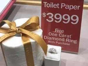 Roll of toilet paper selling for $6000